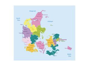 Denmark-Highly Detailed Map by ekler