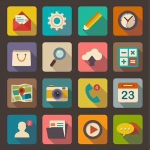 Flat Icons Set for Web and Mobile Applications by ekler