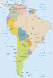 Affordable south america posters for sale at allposters south america highly detailed map by ekler freerunsca Images