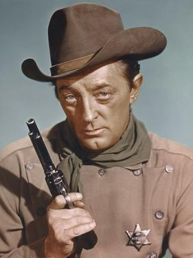 EL DORADO, 1967 directed by HOWARD HAWKS Robert Mitchum (photo)