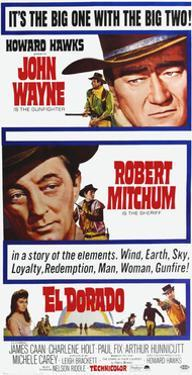 El Dorado, John Wayne, Robert Mitchum on Poster Art, 1966