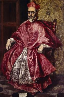 Cardinal Fernando Nino De Guevara, Ca.1601 by El Greco