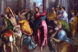 Christ Drives the Dealers from the Temple by El Greco