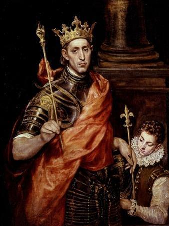 Saint Louis IX 1214-70 King of France by El Greco