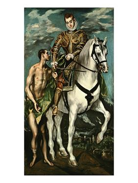 Saint Martin and the Beggar, 1600/14 by El Greco