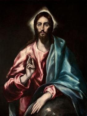 Salvator Mundi (El Salvado) by El Greco