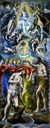 The Baptism of Jesus Christ, 1597/1600 by El Greco