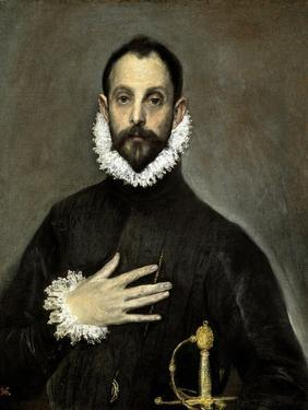 The Nobleman with His Hand on His Chest, Ca. 1580 by El Greco