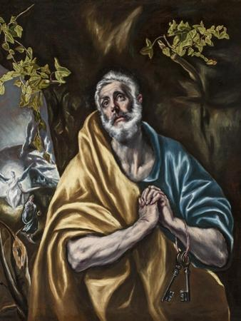 The Penitent Saint Peter, C.1590-95 by El Greco