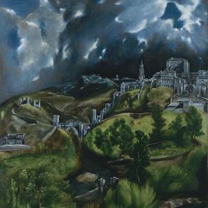 View of Toledo, C.1597-99 by El Greco