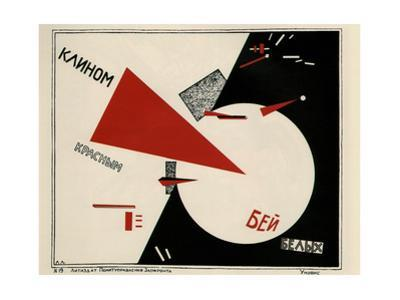 Beat the Whites with the Red Wedge by El Lissitzky