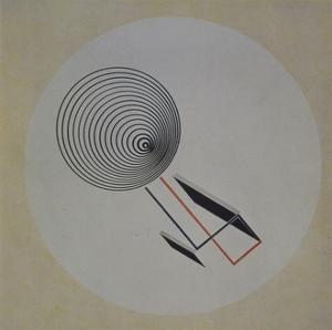 Proun 93. Floating Spiral, 1924 by El Lissitzky