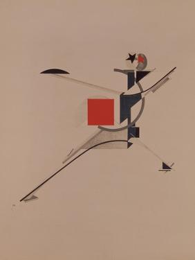 The New. Figurine for the Opera Victory over the Sun by A. Kruchenykh, 1920-1921 by El Lissitzky