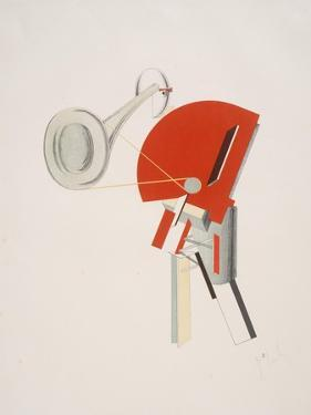 Victory Over the Sun, 2. The Announcer by El Lissitzky