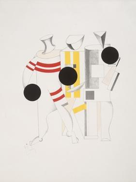 Victory Over the Sun, 6. Sportsmen by El Lissitzky