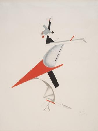 Victory Over the Sun, 7. Troublemaker by El Lissitzky
