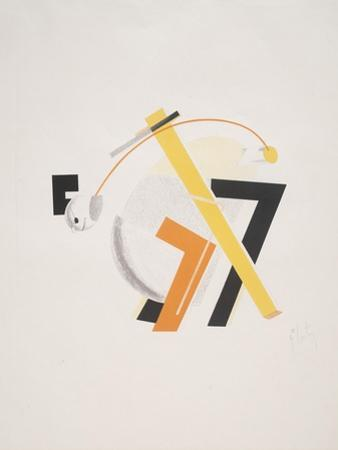 Victory Over the Sun, 8. Old Man (Head 2 Steps behind) by El Lissitzky