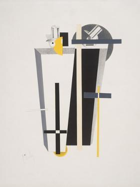 Victory Over the Sun, 9. Gravediggers by El Lissitzky