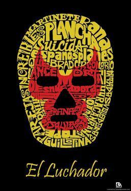 El Luchador Mask Text Poster