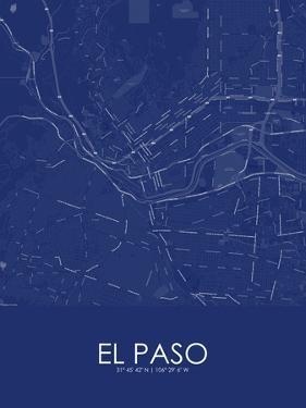 El Paso, United States of America Blue Map