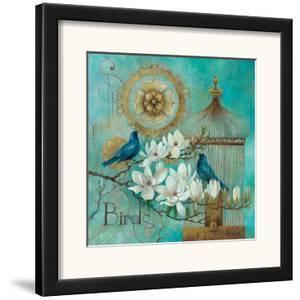 Blue Birds and Magnolia by Elaine Vollherbst-Lane