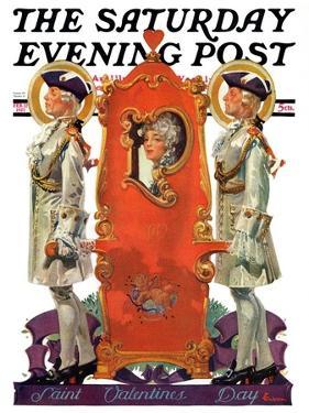 """18th Century Valentine,"" Saturday Evening Post Cover, February 12, 1927 by Elbert Mcgran Jackson"