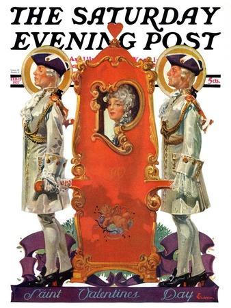 """18th Century Valentine,"" Saturday Evening Post Cover, February 12, 1927"