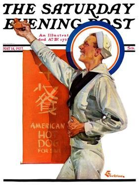 """""""American Hot Dogs,"""" Saturday Evening Post Cover, May 14, 1927 by Elbert Mcgran Jackson"""