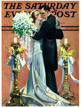 """""""Bridal Couple Dancing,"""" Saturday Evening Post Cover, June 6, 1931 by Elbert Mcgran Jackson"""