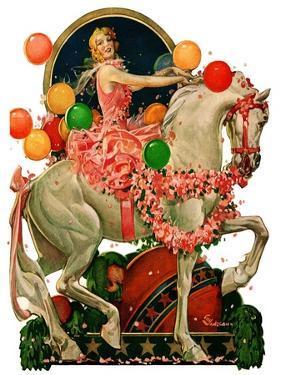 """""""Circus Bareback Rider,""""April 25, 1931 by Elbert Mcgran Jackson"""