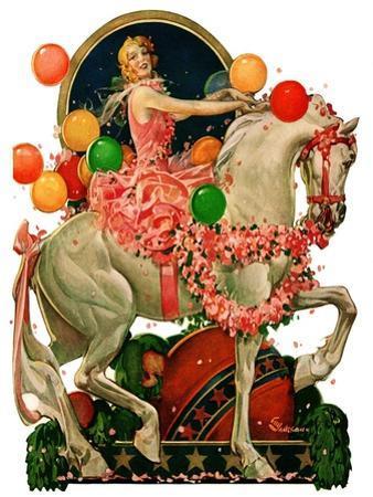 """""""Circus Bareback Rider,""""April 25, 1931"""