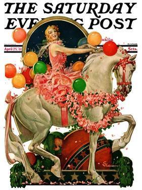 """Circus Bareback Rider,"" Saturday Evening Post Cover, April 25, 1931 by Elbert Mcgran Jackson"
