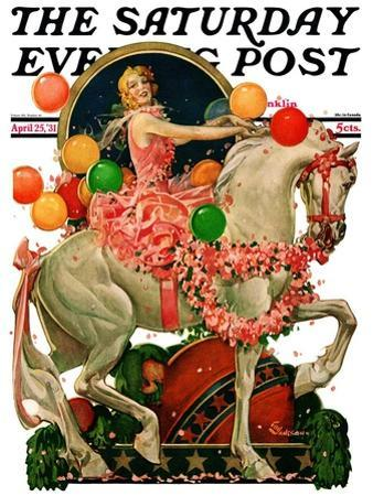 """Circus Bareback Rider,"" Saturday Evening Post Cover, April 25, 1931"
