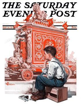 """Circus Calliope,"" Saturday Evening Post Cover, May 23, 1925 by Elbert Mcgran Jackson"