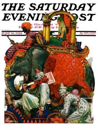 """Circus Parade,"" Saturday Evening Post Cover, June 16, 1928"