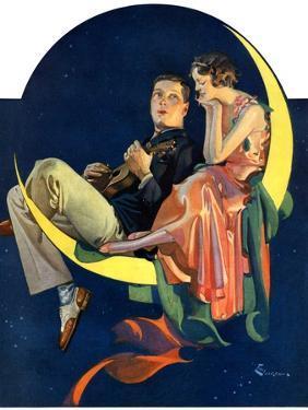 """""""Crescent Moon Couple,""""June 14, 1930 by Elbert Mcgran Jackson"""