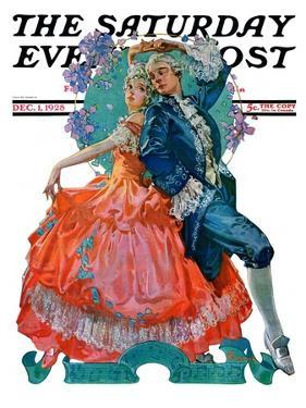 """Dancing Couple,"" Saturday Evening Post Cover, December 1, 1928 by Elbert Mcgran Jackson"