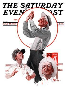 """""""Fly Ball,"""" Saturday Evening Post Cover, July 28, 1923 by Elbert Mcgran Jackson"""
