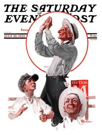 """""""Fly Ball,"""" Saturday Evening Post Cover, July 28, 1923"""