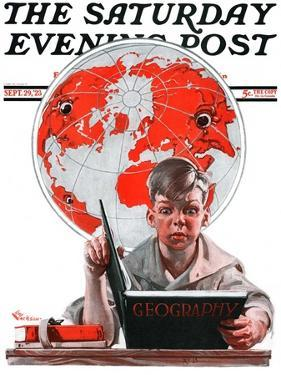 """""""Geography,"""" Saturday Evening Post Cover, September 29, 1923 by Elbert Mcgran Jackson"""