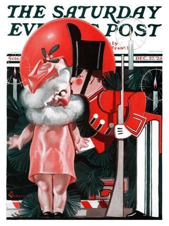 """Kewpie Doll Kiss,"" Saturday Evening Post Cover, December 27, 1924"