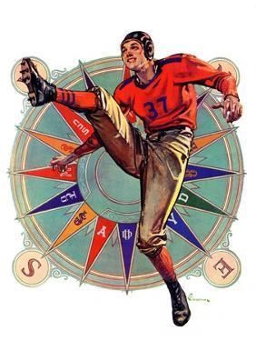 """Kickoff,""October 23, 1937 by Elbert Mcgran Jackson"