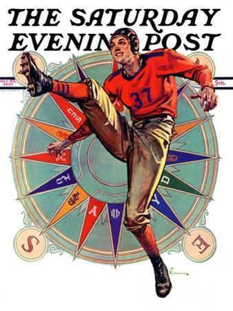 """Kickoff,"" Saturday Evening Post Cover, October 23, 1937"