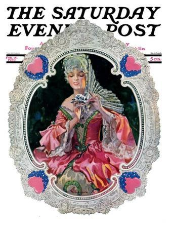 """""""Lace Valentine,"""" Saturday Evening Post Cover, February 15, 1930"""