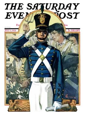 """Military School Graduate,"" Saturday Evening Post Cover, July 3, 1926 by Elbert Mcgran Jackson"
