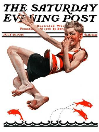 """""""Nose Dive,"""" Saturday Evening Post Cover, July 25, 1925"""