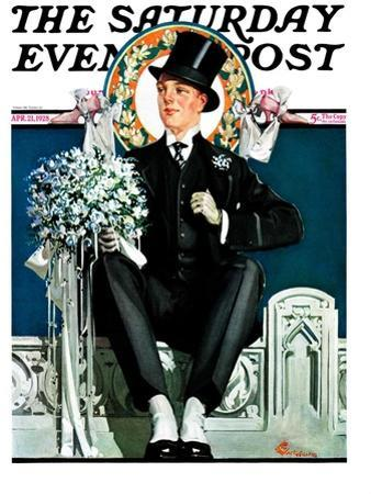 """Patient Groom,"" Saturday Evening Post Cover, April 21, 1928"