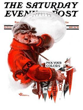 """""""Pennants for Sale,"""" Saturday Evening Post Cover, November 24, 1923 by Elbert Mcgran Jackson"""