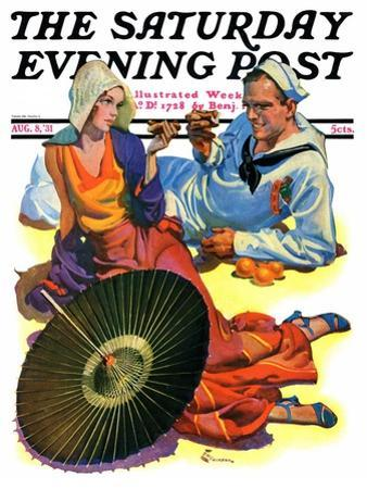 """""""Shore Leave,"""" Saturday Evening Post Cover, August 8, 1931"""