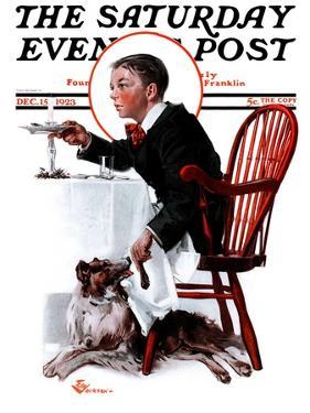 """Table Scraps,"" Saturday Evening Post Cover, December 15, 1923 by Elbert Mcgran Jackson"